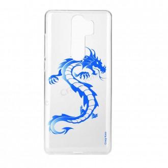 Coque Xiaomi Redmi Note 8 Pro souple Dragon bleu - Crazy Kase