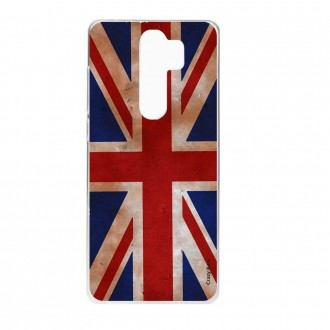 Coque Xiaomi Redmi Note 8 Pro souple Drapeau UK vintage - Crazy Kase