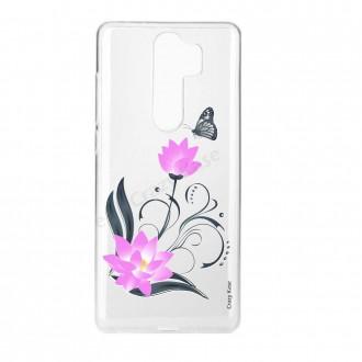 Coque Xiaomi Redmi Note 8 Pro souple Fleur de lotus et papillon - Crazy Kase