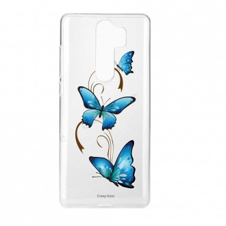 Coque Xiaomi Redmi Note 8 Pro souple Papillon sur Arabesque- Crazy Kase