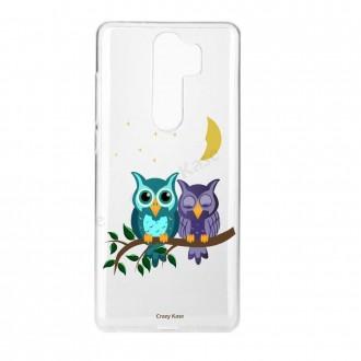 Coque Xiaomi Redmi Note 8 Pro souple Chouettes au clair de lune - Crazy Kase