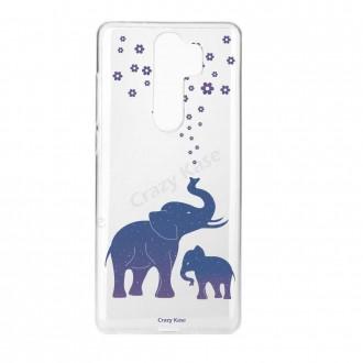 Coque Xiaomi Redmi Note 8 Pro souple Eléphant bleu - Crazy Kase