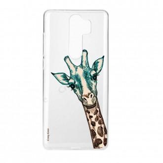 Coque Xiaomi Redmi Note 8 Pro souple Tête de Girafe - Crazy Kase