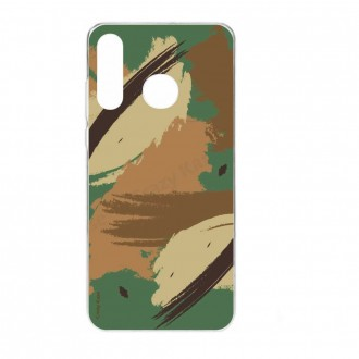Coque Galaxy A40 souple motif Camouflage - Crazy Kase