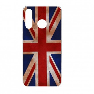 Coque Galaxy A40 souple motif Drapeau UK vintage - Crazy Kase