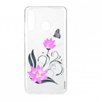 Coque Galaxy A40 souple motif Fleur de lotus et papillon- Crazy Kase