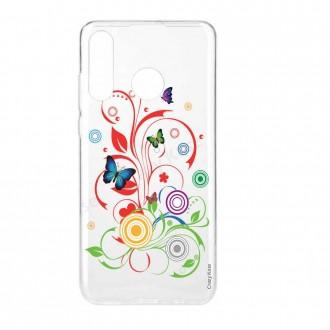Coque Galaxy A40 souple motif Papillons et Cercles - Crazy Kase