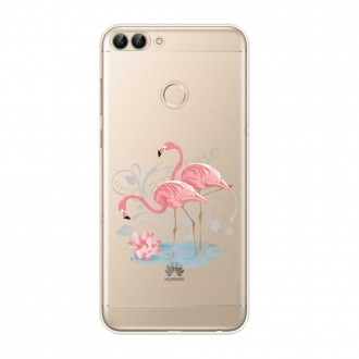 Coque Huawei P Smart  2018 souple Flamant rose - Crazy Kase