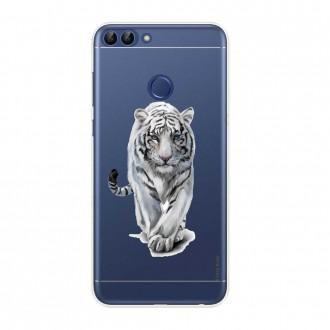 Coque Huawei P Smart souple Tigre blanc - Crazy Kase