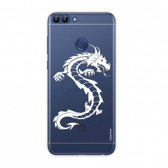 Coque Huawei P Smart souple Dragon blanc - Crazy Kase