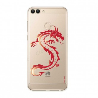 Coque Huawei P Smart souple Dragon rouge - Crazy Kase