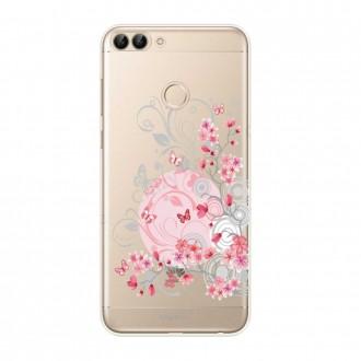 Coque Huawei P Smart souple Fleurs et papillons - Crazy Kase