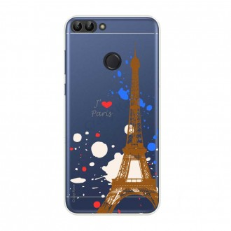 Coque Huawei P Smart  2018 souple Paris - Crazy Kase