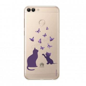 Coque Huawei P Smart souple Chaton jouant avec papillon - Crazy Kase