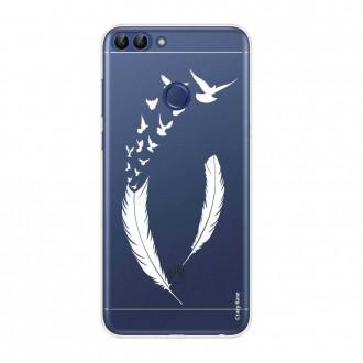 Coque Huawei P Smart souple motif Plume et envol d'oiseaux - Crazy Kase