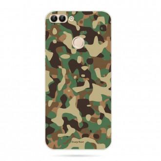 Coque Huawei P Smart souple motif Camouflage militaire - Crazy Kase