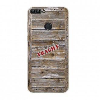 Coque Huawei P Smart souple effet Caisse en bois - Crazy Kase