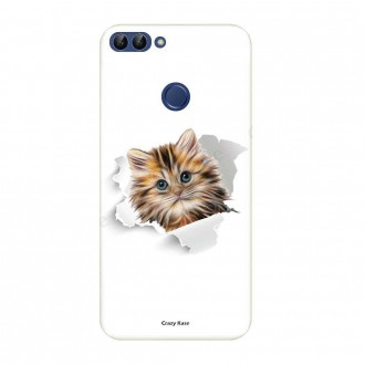 Coque Huawei P Smart souple motif Chat trop mignon - Crazy Kase
