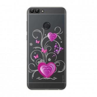 Coque Huawei P Smart 2018 souple motif Cœur et papillon - Crazy Kase