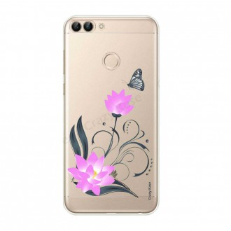 Coque Huawei P Smart 2018 souple motif Fleur de lotus et papillon- Crazy Kase