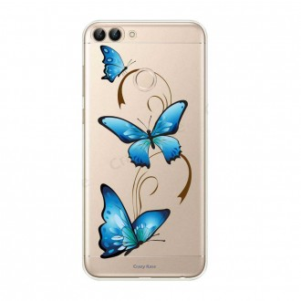 Coque Huawei P Smart 2018 souple motif Papillon sur Arabesque - Crazy Kase