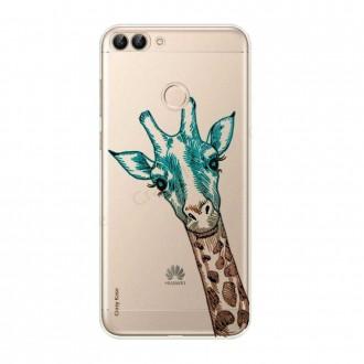 Coque Huawei P Smart 2018 souple motif Tête de Girafe - Crazy Kase