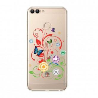 Coque Huawei P Smart souple motif Papillons et Cercles - Crazy Kase