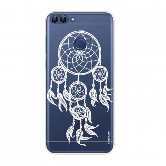 Coque Huawei P Smart souple motif Attrape Rêves Blanc - Crazy Kase