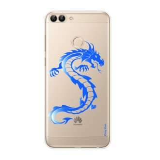 Coque Huawei P Smart souple Dragon bleu - Crazy Kase