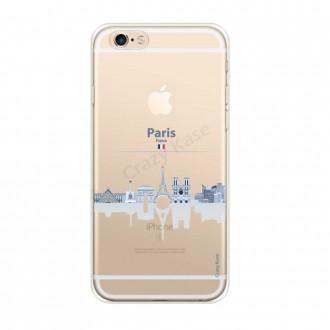 Coque iPhone 6 / 6s Plus souple Monuments de Paris - Crazy Kase