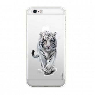 Coque iPhone 6 / 6s Plus souple Tigre blanc - Crazy Kase