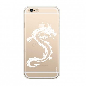 Coque iPhone 6 / 6s Plus souple Dragon blanc - Crazy Kase