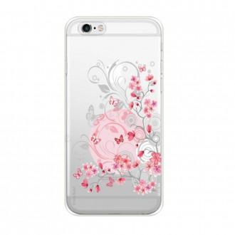 Coque iPhone 6 / 6s Plus souple Fleurs et papillons - Crazy Kase