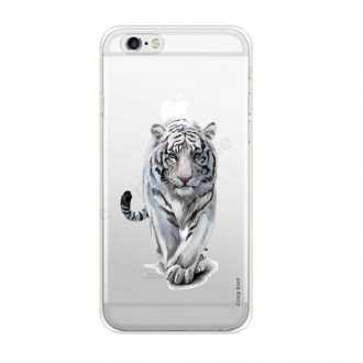 Coque iPhone 6 / 6s souple Tigre blanc - Crazy Kase