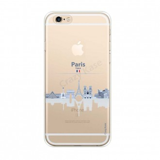 Coque iPhone 6 / 6s souple Monuments de Paris - Crazy Kase