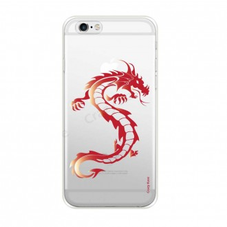 Coque iPhone 6 / 6s souple Dragon rouge - Crazy Kase