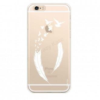 Coque iPhone 6 / 6s souple motif Plume et envol d'oiseaux - Crazy Kase