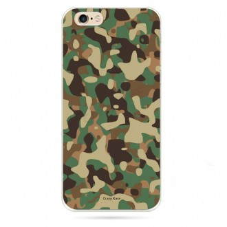 Coque iPhone 6 / 6s souple motif Camouflage militaire - Crazy Kase