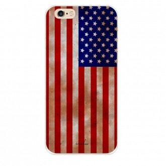Coque iPhone 6 / 6s souple motif Drapeau Américain - Crazy Kase