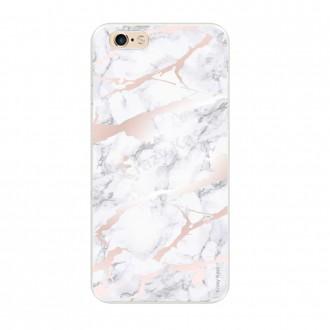 Coque iPhone 6 / 6s souple effet Marbre rose - Crazy Kase