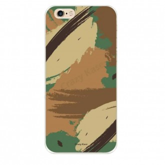 Coque iPhone 6 / 6s souple motif Camouflage - Crazy Kase