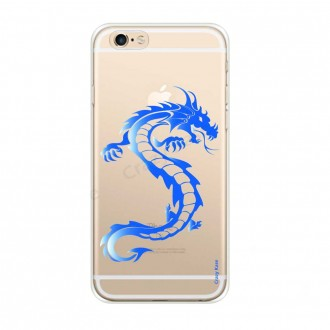 Coque iPhone 6 / 6s souple Dragon bleu - Crazy Kase