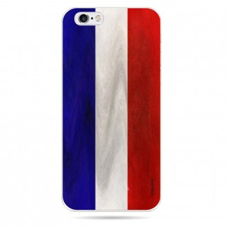 Coque iPhone 6 / 6s souple Drapeau Français Vintage- Crazy Kase