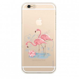 Coque iPhone 6 / 6s souple Flamant rose - Crazy Kase