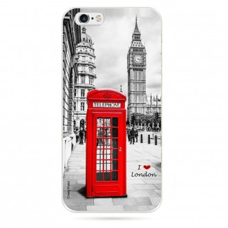 Coque iPhone 6 / 6s souple motif Londres - Crazy Kase