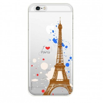 Coque iPhone 6 / 6s souple Paris - Crazy Kase