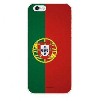 Coque iPhone 6 / 6s souple motif Drapeau Portugais - Crazy Kase