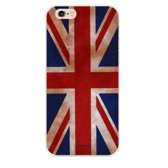 Coque iPhone 6 / 6s souple motif Drapeau UK vintage - Crazy Kase