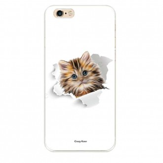 Coque iPhone 6 / 6s souple motif Chat trop mignon - Crazy Kase