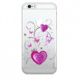 Coque iPhone 6 / 6s souple motif Cœur et papillon - Crazy Kase